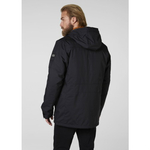 Winterjas Heren Parka.Helly Hansen Heren Winterjas Harbour Parka Black Sterk Afgeprijsd