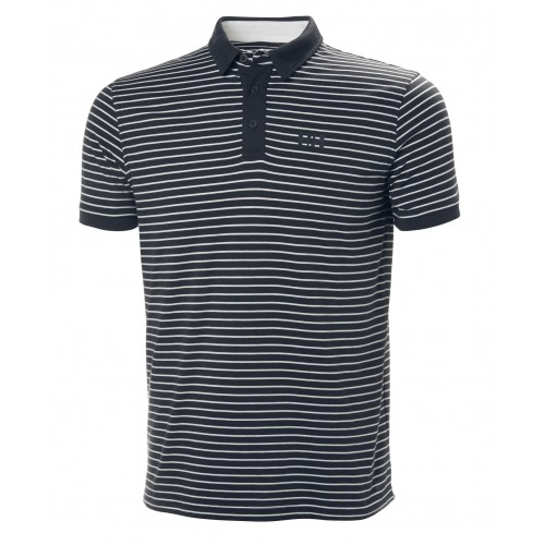 Helly Hansen Heren Polo Fjord Stripe Navy-Grey