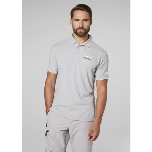 Helly Hansen Heren Polo HP Racing Silver