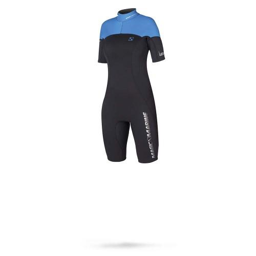 Magic Marine Dames Wetsuit Ultimate Shorty 3-2 D-L Blauw Oud Model SALE