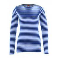 Armor Lux Dames Gestreept Shirt Mariniere Brando Heritage Blauw