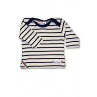 Breton Stripe Baby Newborn Streepjes Shirt Natural-Navy