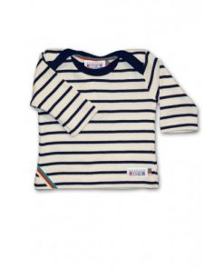 Breton Stripe Baby Newborn Streepjes Shirt Natural-Navy
