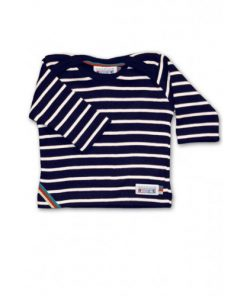 Breton Stripe Baby Newborn Streepjes Shirt Navy-Natural