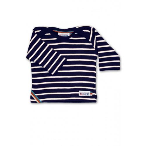 Breton Stripe Baby Newborn Streepjes Shirt Navy-Natural