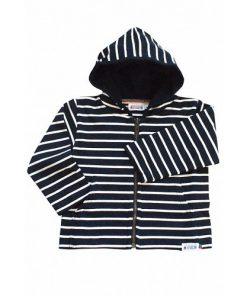 Breton Stripe Baby Streepjes Hoodie Navy-Ecru