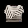 Breton Stripe Baby Streepjes Shirt Natural-Navy