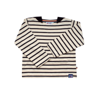Breton Stripe Baby Streepjes Shirt Natural-Navy