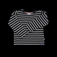Breton Stripe Baby Streepjes Shirt Navy-Natural