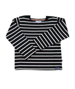 Breton Stripe Baby Streepjes Shirt Navy-Natural