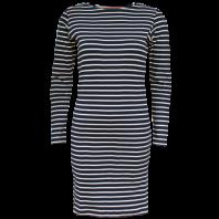Breton Stripe Dames Streepjes Jurk Navy-Natural