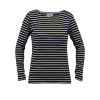 Breton Stripe Dames Streepjes Shirt Navy-Natural