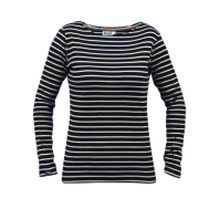 Breton Stripe Dames Streepjes Shirt Navy-Natural