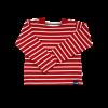 Breton Stripe Kinderen Streepjes Shirt Bordeaux-Natural
