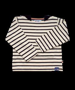 Breton Stripe Kinderen Streepjes Shirt Natural-Navy