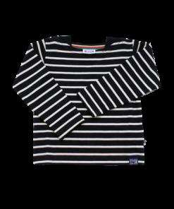 Breton Stripe Kinderen Streepjes Shirt Navy-Natural
