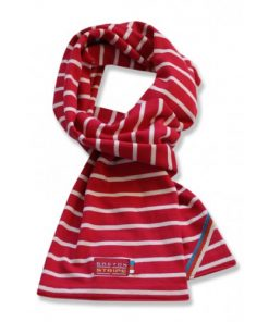 Breton Stripe Kinderen Streepjes Sjaal Bordeaux-Natural