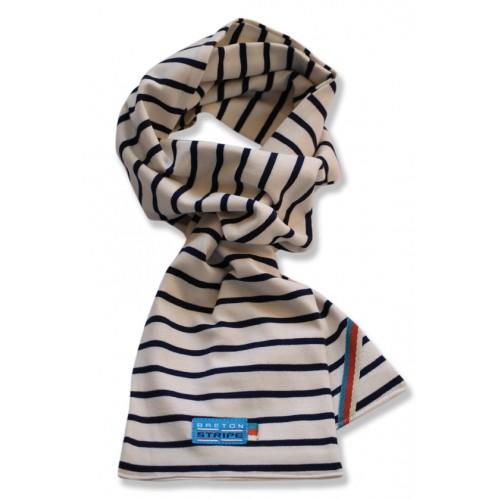 Breton Stripe Kinderen Streepjes Sjaal Natural-Navy