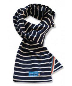 Breton Stripe Kinderen Streepjes Sjaal Navy-Natural