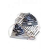 Breton Stripe Newborn Birth Gift Natural-Navy