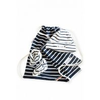 Breton Stripe Newborn Birth Gift Navy-Natural