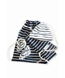 Breton Stripe Newborn Birth Gift Navy-Natural