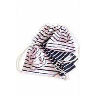 Breton Stripe Newborn Birth Gift Pink-Navy