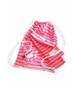 Breton Stripe Newborn Birth Gift Red-Fuchsia