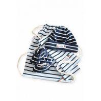 Breton Stripe Newborn Birth Gift Skyblue-Navy