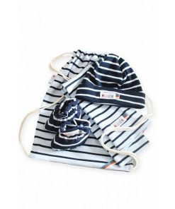 Breton Stripe Newborn Birth Gift Skyblue-Navy