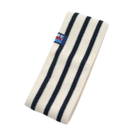 Breton Stripe Streepjes Haarband Fleece Natural-Navy