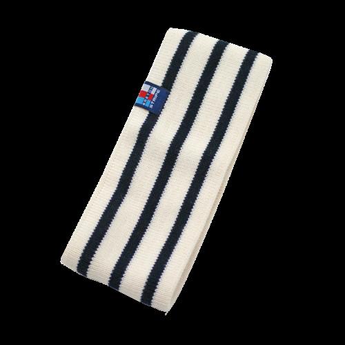 Breton Stripe Streepjes Haarband Fleece Natural-Navy