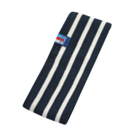 Breton Stripe Streepjes Haarband Fleece Navy-Natural