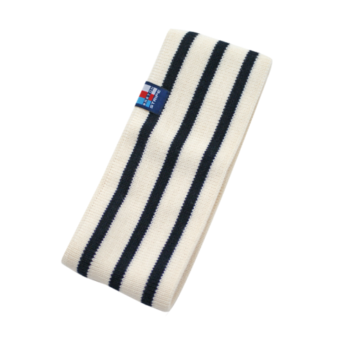Breton Stripe Streepjes Haarband Natural-Navy