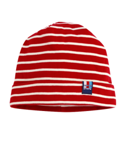 Breton Stripe Streepjes Muts Bordeaux-Natural