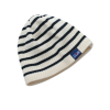 Breton Stripe Streepjes Muts Fleece Natural-Navy