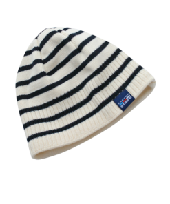 Breton Stripe Streepjes Muts Fleece Natural-Navy