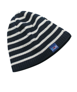 Breton Stripe Streepjes Muts Fleece Navy-Natural