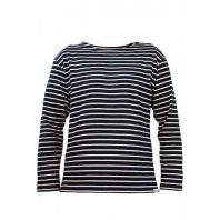 Breton Stripe Streepjes Shirt Stretch Navy-Natural