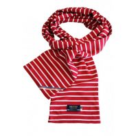 Breton Stripe Streepjes Sjaal Bordeaux-Natural