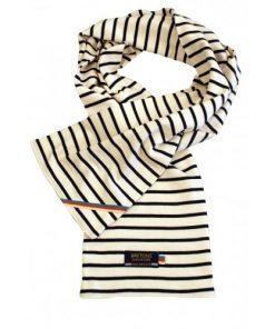 Breton Stripe Streepjes Sjaal Natural-Navy