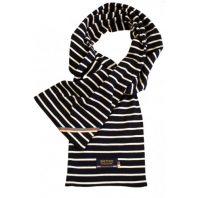 Breton Stripe Streepjes Sjaal Navy-Natural