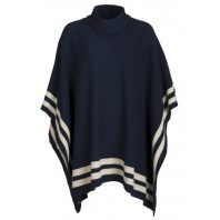 Key West Dames Poncho Olga Navy-Sand