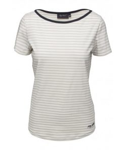 Key West Dames T-Shirt Luella Stripe Sand-White
