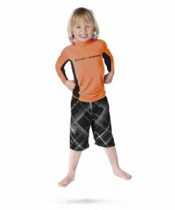 Magic Marine Junior T-Shirt UV Cube Rash Vest L-S Oranje Oud Model SALE