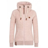 Naketano Dames Fleece Vest Redefreiheit Dusty Pink Melange