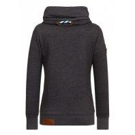 Naketano Dames Sweater Hoodie Reorder VIII Anthracite Melange 1