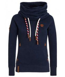 Naketano Dames Sweater Hoodie Reorder VIII Navy