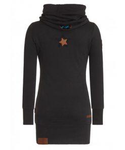 Naketano Dames Sweater Lang Hoodie Rereorder VIII Black 2