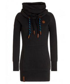 Naketano Dames Sweater Lang Hoodie Rereorder VIII Black